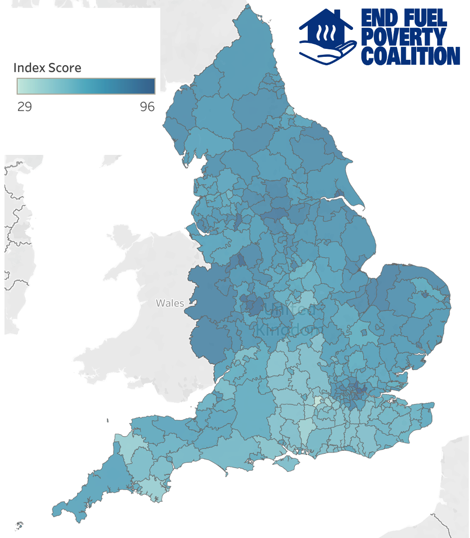 Fuel poverty map of England revealed