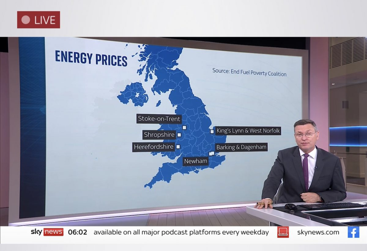Media reacts to End Fuel Poverty Map of England